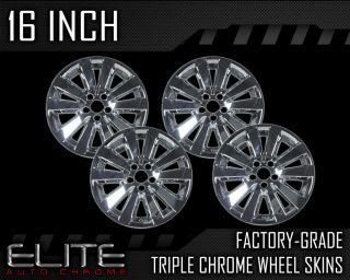 """2008 2011 Toyota Corolla 16"""" Chrome Wheel Skin Covers"""