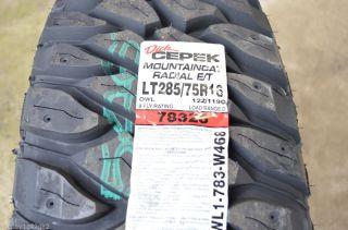 1 New Lt 285 75 16 Dick Cepek Mountaincat 8 Ply Mud Tire