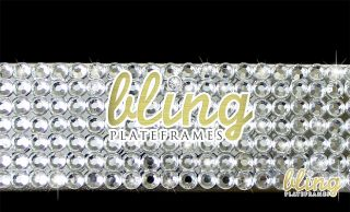 3D Bow Rhinestone License Plate Frame Diamond Bling Clear Silver Jeweled Cute BN