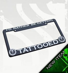 Sullen Lucky 13 Felon Hardnox Tattoo Devil Pin Up License Plate Frame Rather