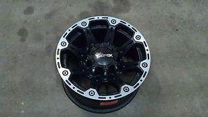 """Dick Cepek Torque 16"""" 16x8 8x6 5 8 Lug Black Wheel Rim Chevy Truck Rim 1068482BM"""