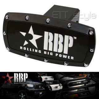 "RBP 2"" Black Powder Coated Aluminum Trailer Towing Hitch Receiver Cover Toyota"