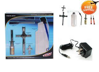 HSP Starter Kit Tool Glow Plug Igniter RC Nitro Car Boat Buggy 80142