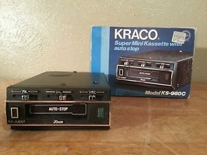 Vintage New Kraco KS 960C Super Mini Cassette Tape Deck Player Car Stereo Radio