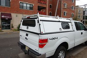 Leer Truck Cap with Ladder Rack and Lights 6 5 Foot