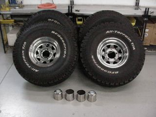 4 35x12 50R15LT BF Goodrich Tires American Racing Rims Used