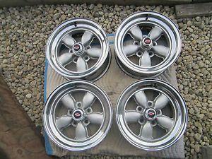 4 Chevy Pontiac Buick American Racing Daisy Wheels Bottle Top Rims 15x7 RARE
