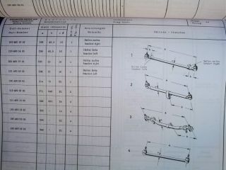 Mercedes Survey Sheets Chassis Spare Parts List Data Diagrams Manual 1953 67