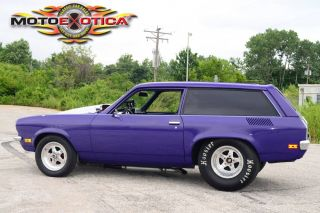 1972 Chevy Vega Pro Street No Expense Spaired Roll Cage Powerglide Trans Look