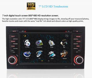 New in Dash Car Radio CD DVD MP3 Player GPS BT iPod Audio F Audi A4 2003 2008