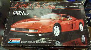 1 12 Monogram Exotic Car Series Ferrari Testarossa Opened Build Parts