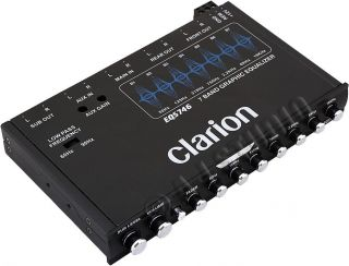 Clarion EQS746 Car Audio Stereo 7 Band Rotary Equalizer EQ 6 Channel Aux Input