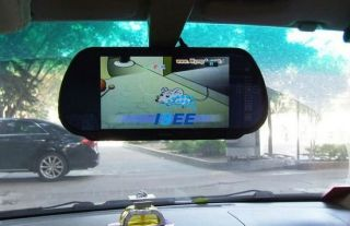 """7"""" TFT LCD Color Screen Car Mirror Monitor Reverse Rearview Camera"""