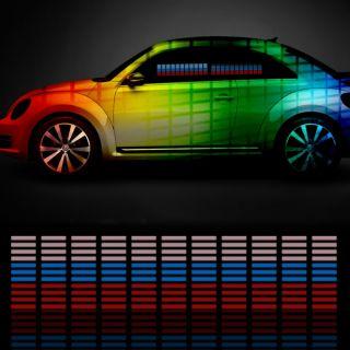 Car Sticker Music Rhythm LED Flash Light Lamp Sound Activated Equalizer 10styles