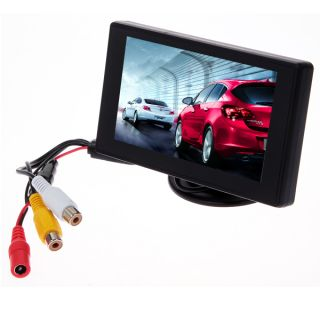 """4 3"""" TFT LCD Reverse Rear View Color Monitor Mirror for Car Backup Camera Power"""