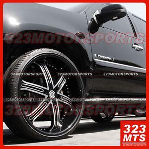 "24"" Versante VE226 Black Machined Face Wheels Rims Avenger Chrysler 300M Nissan"