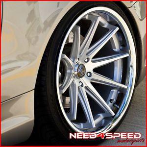 "20"" Audi D3 A8 Rohana RC10 Silver Concave Wheels Rims"