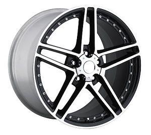 18x9 5 19x12 C6 Z06 ZO6 Black Machined Lip Corvette Grand Sport Wheels Rims