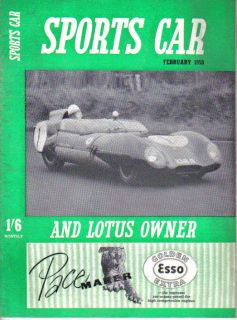 Sports Car Lotus Owner 2 58 Auto Union 1000 Sunbeam Rapier Aston Martin Elva