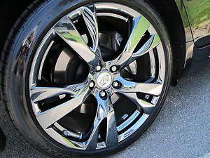 "2012 Infiniti M56 M37 G37 20"" Factory PVD Black Chrome Sport Wheels Rims"