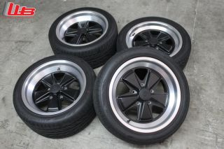 """Porsche 930 Turbo Style Wheels and Tires 17x7"""" F 17x9"""" R Hankook V12 Tires"""