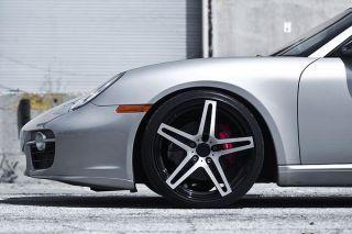 "22"" Roderick RW5 Machined Concave Wheels Rims Fits Porsche Panamera s 4S Turbo"