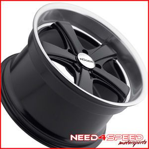 """19"""" Porsche Cayman s RS Ruger Classic Black Staggered Wheels Rims"""
