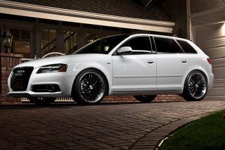 "18"" Audi A4 B7 MRR GT1 Black Staggered Wheels Rims"