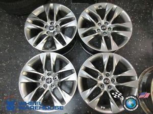 "Four 09 13 Hyundai Genesis Coupe Factory 19"" Wheels Rims 70841 70842"