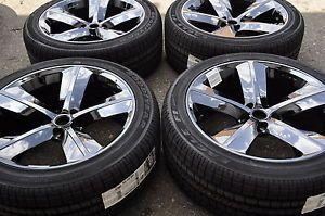 "20"" Dodge Charger Challenger SRT 8 Black Chrome Wheels Rims Tires 2329"