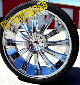 "22"" inch Phino Wheels Rims Tires PW38 5x115 5x120 13 Offset 22x9 Chrysler 300"