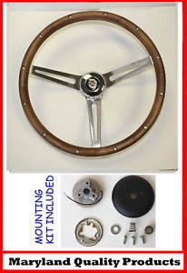 "1967 Chrysler 300 New Yorker Grant Wood Steering Wheel 15"" Walnut"