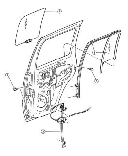 New Genuine Mopar 04589267AB Rear Left Door Window Regulator Jeep Liberty Aspen