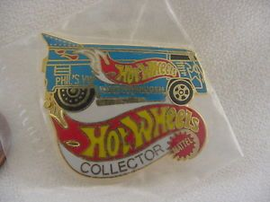 Mattel Hot Wheels Collector Phils VW Drag Bus Volkswagen Fahrvergnugen Lapel Pin