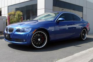 "19"" MRR GT1 Black Staggered Wheels Rims Fits BMW E39 M5"