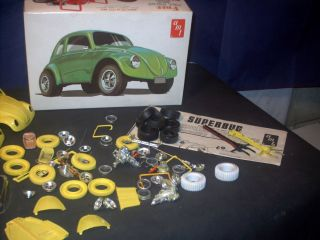 Model Parts Lot 2 VW Super Bug Gasser not Complete