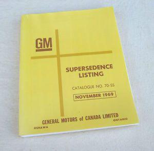 65 70 Camaro Corvette Chevelle GTO 442 F85 R GM Parts History 66 67 68 69 SS