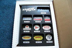 Mopar Master Parts Award Plaque Dealer Sign Chrysler Dodge Shows Logos 1933 1999
