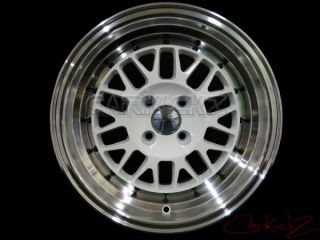 Stance Wheels Mindset 15x8 25 4x100 Gloss White XB E30 EG EK DC2 Mini MX5 Honda