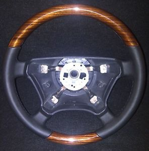 Mercedes Benz W140 W124 Zebrano Wood Steering Wheel Brand New