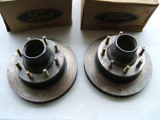 Ford E7TZ 1102 F F250 F350 Dana 44 Front Axle 8 Lug Hubs Rotors New