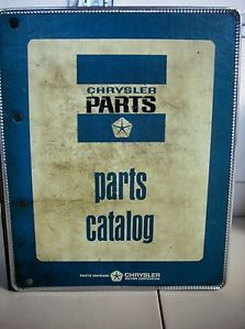 1966 Mopar Chrysler Plymouth Dodge Parts Book Manual Catalog Dart Satellite Hemi