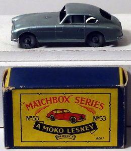 DTE Moko Lesney Matchbox Regular Wheels 53 1 MW CA Met Lt Green Aston Martin