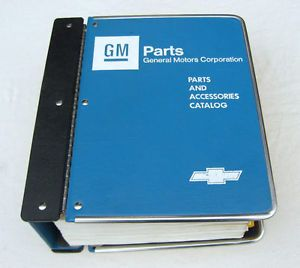 65 70 Camaro Chevelle Impala Nova Original GM Parts Catalog 66 67 68