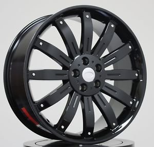 """22"""" Black Wheels Tires Packages Fit Land Range Rover LR3 Sport HSE Discovery Rim"""