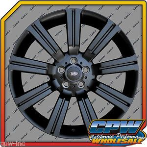 "New Set of 22"" Matte Black Stormer II Range Rover Sport Supercharged Wheels Rims"