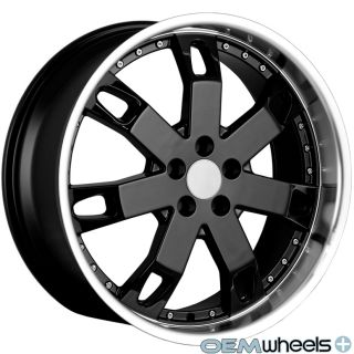 "22"" Black Lip Wheels Fits Land Rover Range Rover Sport HSE Supercharged Rims"