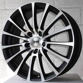 "17"" Audi A6 2008 2011 Facelift Tekno RX11 Black Pol Wheels Tyres 5x112"