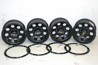 4 Black Mickey Thompson Classic Lock Wheels 17x9 8x6 5 Chevy Ford Dodge 8 Lug