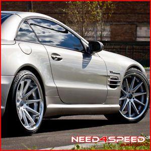 "20"" Mercedes Benz W216 CL550 CL600 CL Rohana RC10 Concave Silver Wheels Rims"
